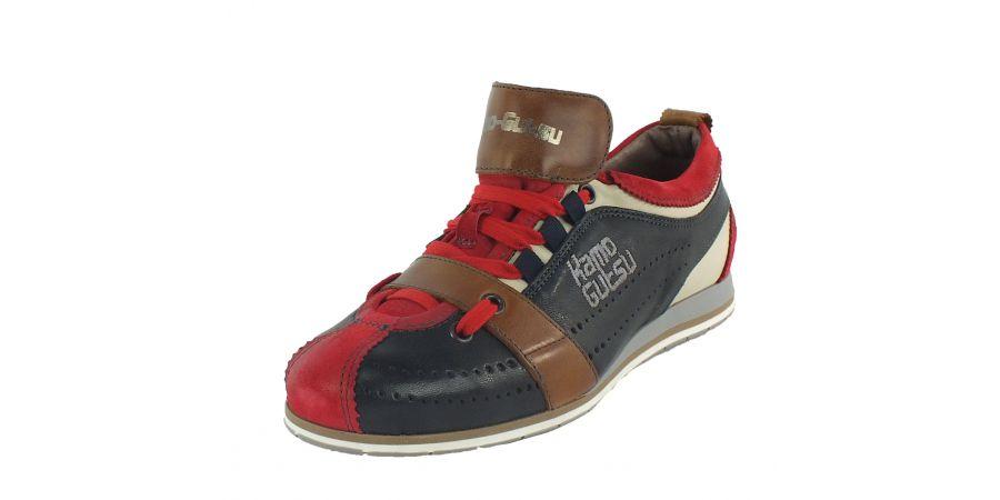 Kamo-Gutsu Damen Sneaker Tifa 002 Rosso Blu Camel
