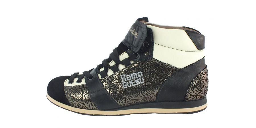 Kamo-Gutsu Damen Sneaker Tifa 100 Sara Nero Combi