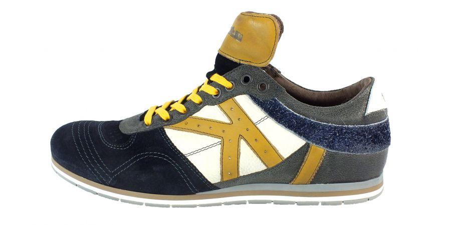 Kamo-Gutsu Herren Sneaker Tifo 040 Navy Carbon Giallo