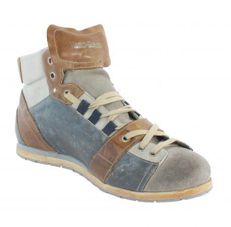 Kamo-Gutsu Herren Sneaker Tifo 105 Ash Blue Bianco