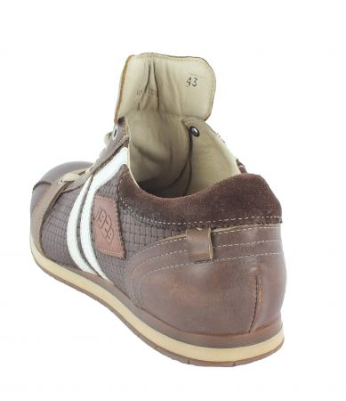 Kamo-Gutsu Herren Sneaker Tifo 030 Marrone Combi