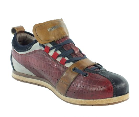Kamo-Gutsu Herren Sneaker Tifo 017 Blu Cocco Rosso