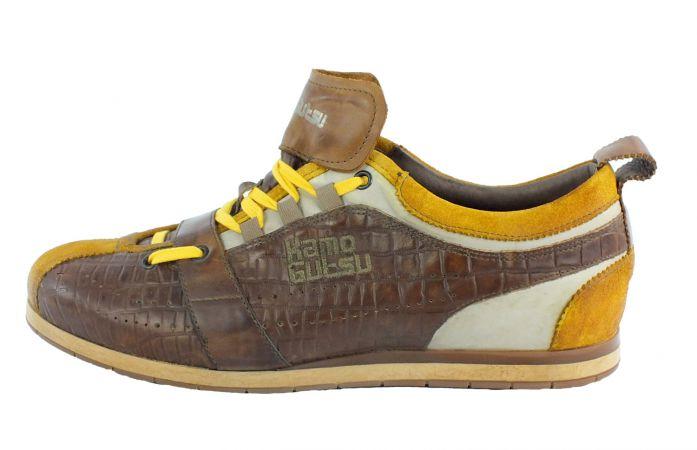 Kamo-Gutsu Herren Sneaker Tifo 017 Ocra Cocco Noce