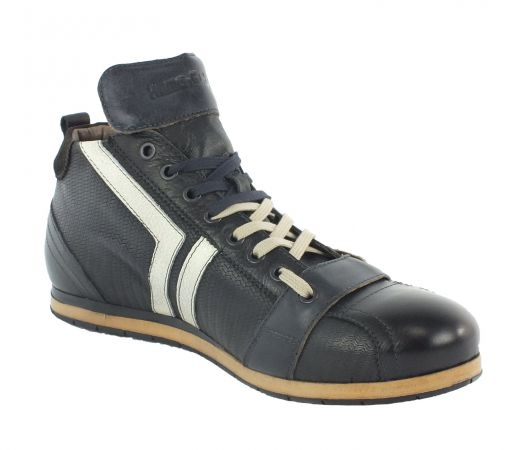 Kamo-Gutsu Herren Sneaker Tifo 130 Onda Nero Blu