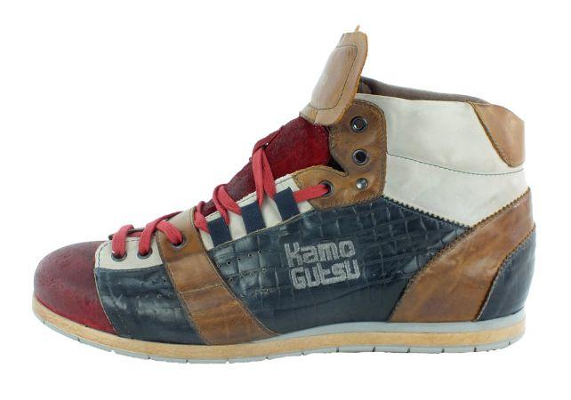 Kamo-Gutsu Herren Sneaker Tifo 105 Sangue Cocco Blu