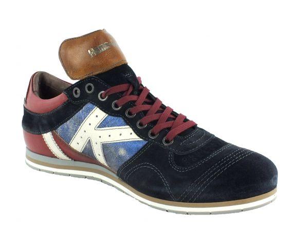 Kamo-Gutsu Herren Sneaker Tifo 040 Blu Bordo