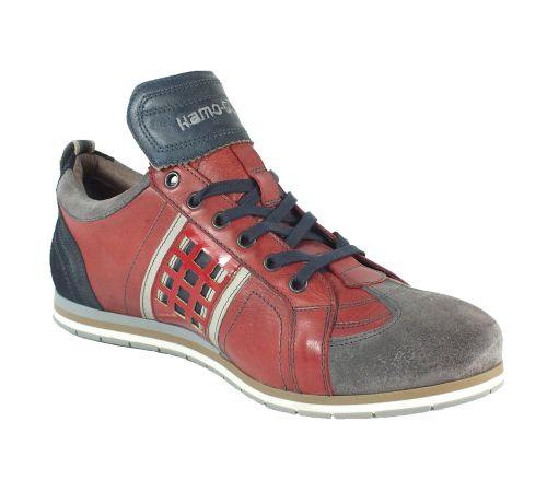 Kamo-Gutsu Herren Sneaker Tifo 032 Ash Rosso Blu