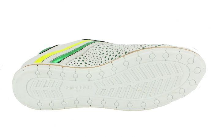 Kamo-Gutsu Damen Sneaker Tifa 005 Bianco Verde Fluo