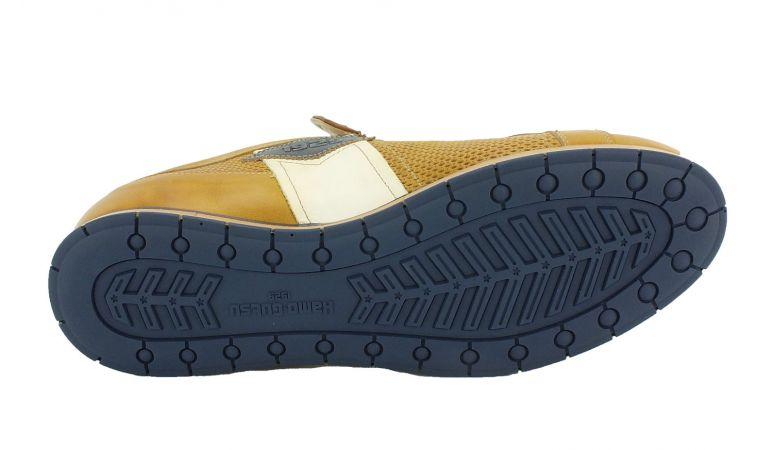 Kamo-Gutsu Herren Sneaker Tifo 034 Giallo Blu