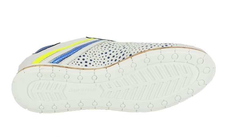 Kamo-Gutsu Damen Sneaker Tifa 005 Bianco Cobalto Fluo