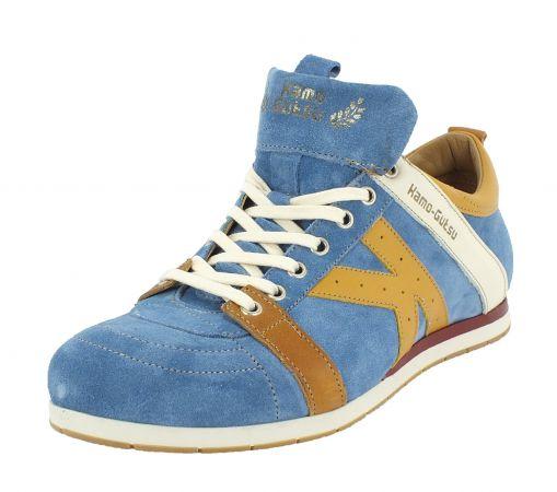 Kamo-Gutsu Herren Sneaker Tifo 042 Denim Giallo