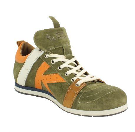 Kamo-Gutsu Herren Sneaker Tifo 042 Kaki Arancio