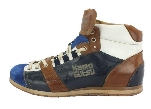 Kamo-Gutsu Herren Sneaker Tifo 110 Aqua Navy Camel