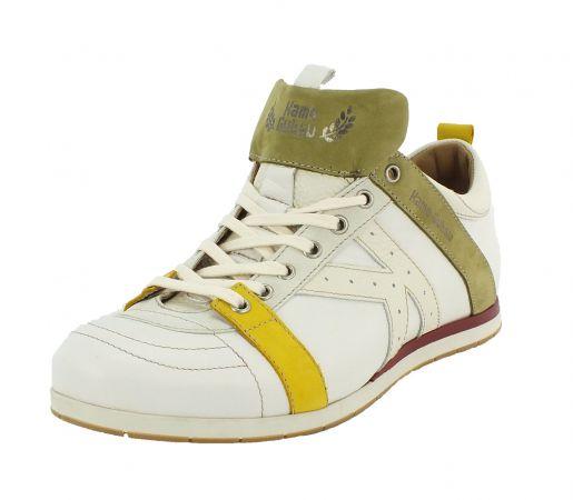 Kamo-Gutsu Herren Sneaker Tifo 042 Gesso Giallo Kaki