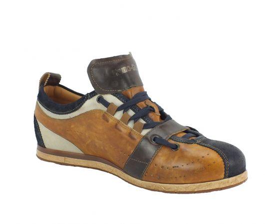 Kamo-Gutsu Herren Sneaker Tifo 017 Blu Cognac
