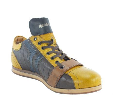 Kamo-Gutsu Herren Sneaker Tifo 030 Ocra TDM blu
