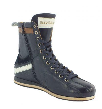 Kamo-Gutsu Damen Sneaker Tifa 106 Blue Bianco