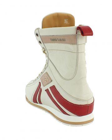Kamo-Gutsu Damen Sneaker Tifa 106 Bianco Papavero