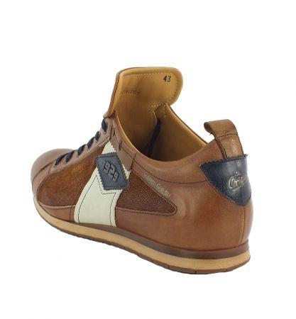 Kamo-Gutsu Herren Sneaker Tifo 038 Cognac Blu