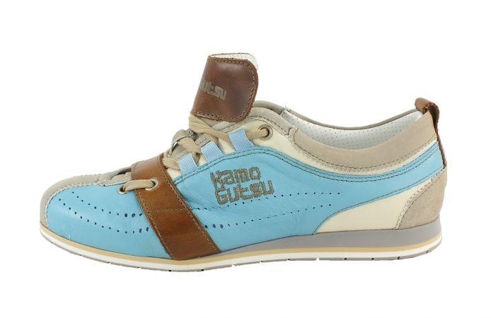 Kamo-Gutsu Damen Sneaker Tifa 02 Tortora Cielo
