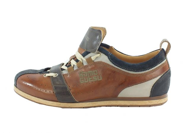 Kamo-Gutsu Herren Sneaker Tifo 17 Blu Cognac