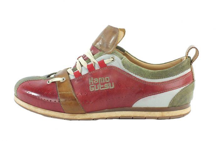 Kamo-Gutsu Herren Sneaker Tifo 017 Kaki Rosso