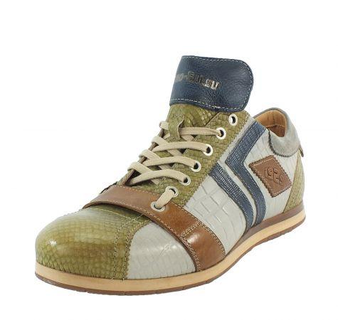 Kamo-Gutsu Herren Sneaker Tifo 030 Olivio Bianco Blu