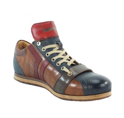 Kamo-Gutsu Herren Sneaker Tifo 30 Blu Cognac Rosso