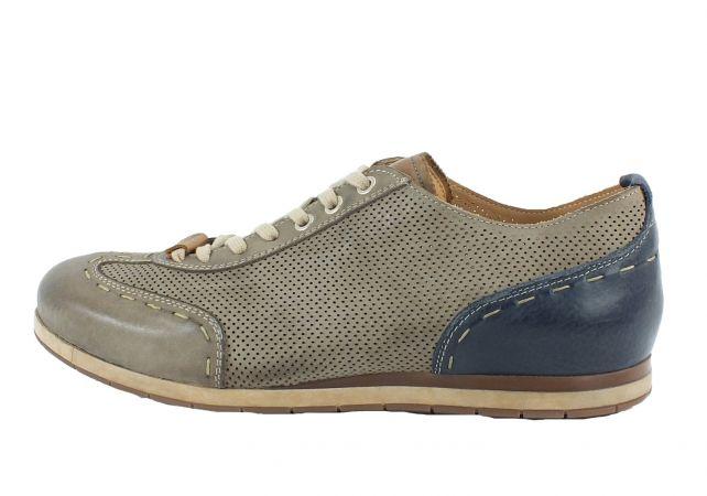 Kamo-Gutsu Herren Sneaker Tifo 037 Taupe Blu