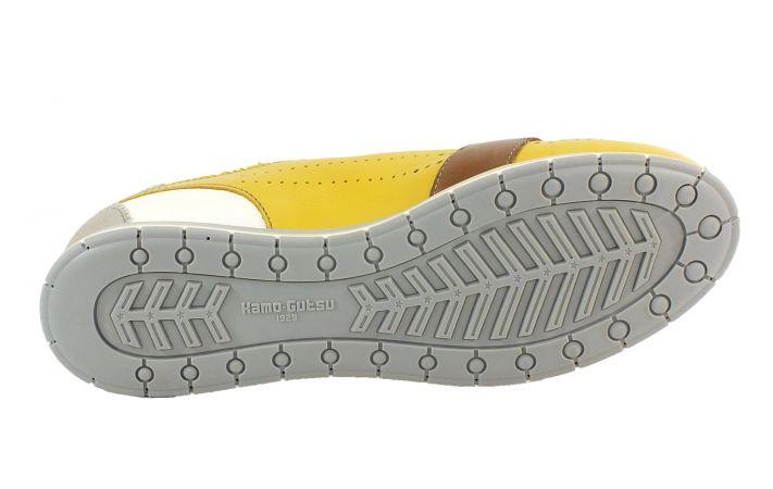 Kamo-Gutsu Damen Sneaker Tifa 002 Perla Giallo