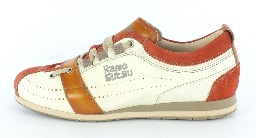 Kamo-Gutsu Damen Sneaker Tifa 002 Mattone Bianco Siena