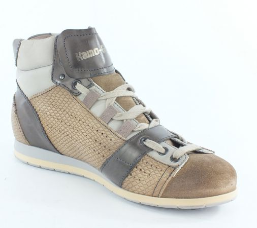 Kamo-Gutsu Damen Sneaker Tifa 100 Pitone Taupe Fuma