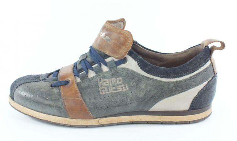 Kamo-Gutsu Herren Sneaker Tifo 017 Navy Gris Cuoio