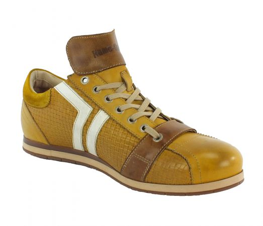 Kamo-Gutsu Herren Sneaker Tifo 030 Giallo Combi